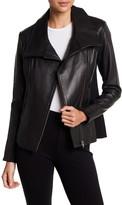 Soia & Kyo Zip Asymmetrical Leather Jacket