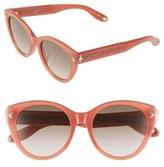Givenchy Women's 54Mm Round Sunglasses - Dark Havana/ Grey