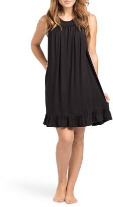Savi Mom The Ruffled Sleeveless Maternity/Nursing Nightgown