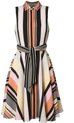 Badgley Mischka Striped Shirt Dress