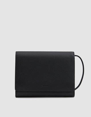 Baggu Women's Compact Purse in Black | Leather