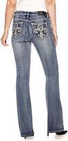 LOVE INDIGO Love Indigo Fleur Des Lis Embellished Back Pocket Bootcut Jean