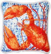 One Duck Two Lobster Outdoor Cushion
