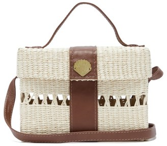 Sensi X Loulou De Saison Straw Cross-body Bag - Beige Multi