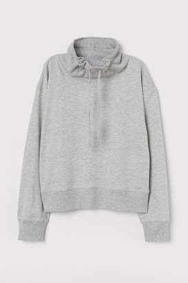 H&M Funnel-collar sweatshirt
