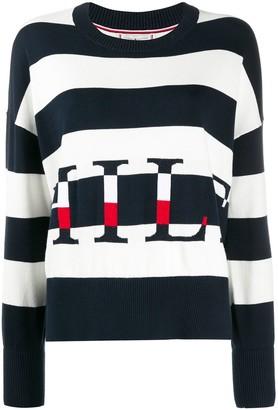 Tommy Hilfiger Logo Striped Jumper