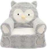 Plush Owl Sweet Seat Chair in Grey
