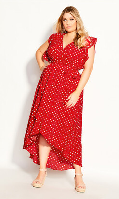 City Chic Red Love Maxi Dress - red