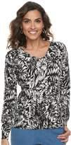 Caribbean Joe Women's Palm Leaf Sweater