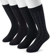 Dockers Men's 4-pack Striped, Solid & Dot Dress Socks