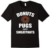 Men's FUNNY DONUTS PUGS SWEATPANTS T-SHIRT Dog Lovers Gift 2XL
