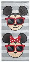 Disney Mickey Mouse/Minnie Mouse Gray Cotton Beach Towel