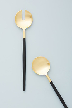 Anthropologie Dipped Serving Set By in Black Size SET OF 2