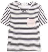 Chinti and Parker Striped Cotton-jersey T-shirt - Ivory