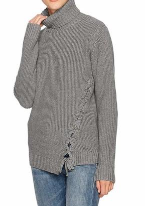 MinkPink Women's Secret Maze Lace Up Turtleneck Oversized Sweater