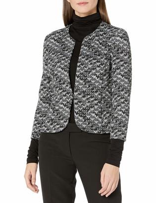 Anne Klein Women's Knit Jacquard Open Front Jacket