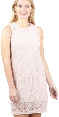 M&Co Izabel lace overlay shift dress