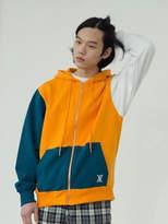 [Unisex] Vertical Hoodie Zip-Up_orange