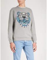 Kenzo Tiger-embroidery cotton sweatshirt