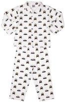 Pixie Dixie Taxi Traditional Boy's Pyjamas White/Black 9-10 years