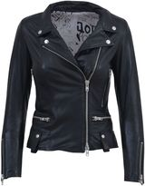 S.W.O.R.D. Black Leather Biker Jacket