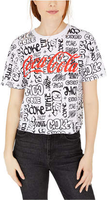 Love Tribe Juniors' Coca-Cola Graffiti Graphic T-Shirt
