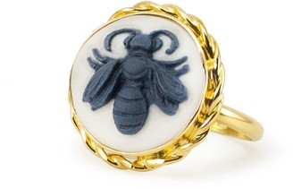 Vintouch Italy Bee Cameo Ring