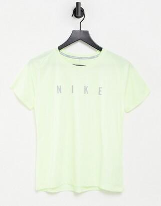 Nike Running Run Division Miler t-shirt in volt