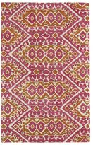 Leon Hand-tufted de Boho Pink Rug (5'0 x 7'9)