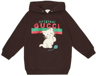 Gucci Kids Logo embroidered cotton hoodie