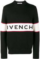 Givenchy logo intarsia knitted jumper