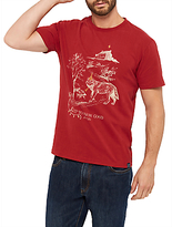 Joules Up To Snow Good Graphic T-shirt, Rhubarb