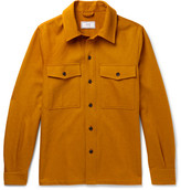 Ami Cotton-blend Twill Overshirt - Orange