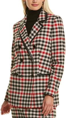 Karl Lagerfeld Paris Plaid Jacket