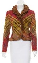 Valentino Fur-Trimmed Wool Jacket