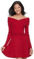 Candies Candie's Juniors' Candie's® Portrait Collar Sweater Dress