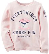 Carter's Toddler Girl Long Sleeve Thermal Graphic Tee
