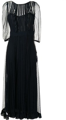 RED Valentino Long Pleated Dress