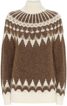 Frame Fairisle Turtleneck Sweater