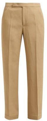 Golden Goose Mid Rise Straight Leg Trousers - Womens - Beige