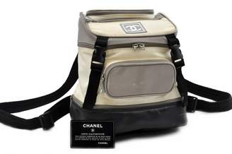 Chanel White Cloth Backpacks