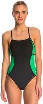 Speedo PowerPlus Sprint Splice Free Back One Piece Swimsuit 8144611
