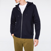 Paul Smith Men's Navy Organic Loopback-Cotton Zip Hoodie