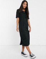 JDY Rosie short sleeve midi dress with side split
