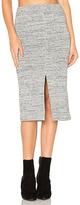 Alice + Olivia Spiga Slit Skirt in Gray