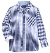Andy & Evan Blue Gingham Long Sleeve Button Down Shirt (Toddler & Little Boys)