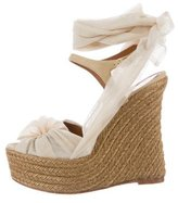 Fendi Espadrille Wedge Sandals