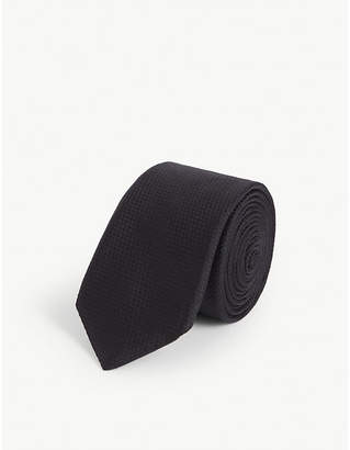 BOSS Plain silk tie