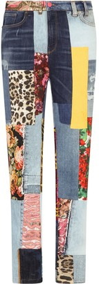 Dolce & Gabbana Patchwork Skinny Jeans