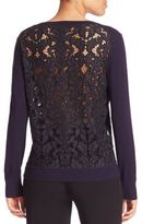 Diane von Furstenberg Anaya Lace Back Sweater
